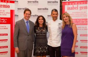 Sensilis, patrocinador de la cena solidaria 10 Estrellas Michelín de la Fundación Isabel Gemio