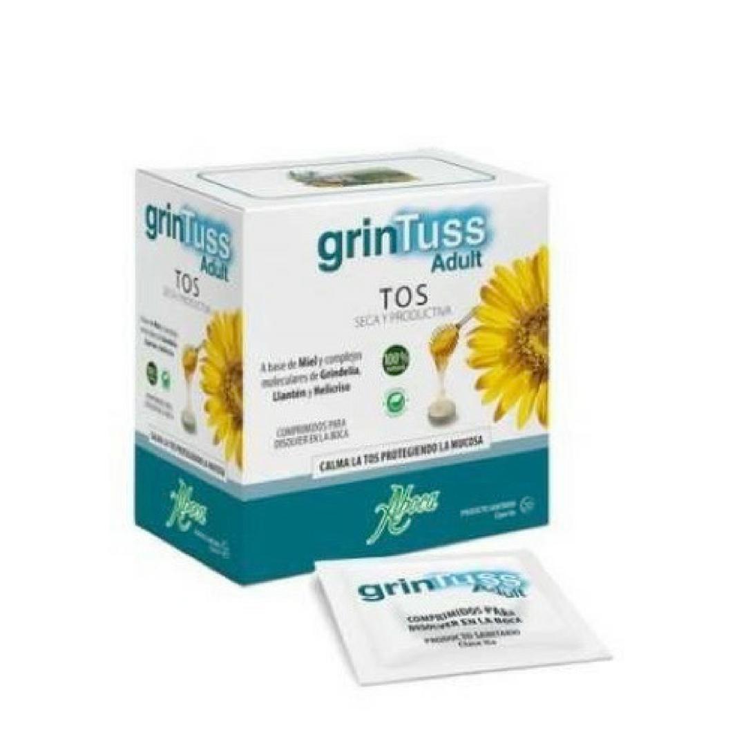 GrinTuss adult comprimidos calma las tos y protege la mucosa