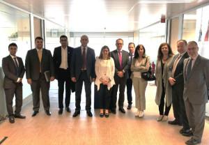 Miembros de la delegación de dirigentes sanitarios de Arabia Saudí