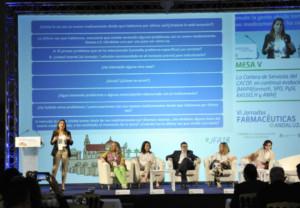 Imagen de una de las mesas celebradas en las VI Jornadas Farmacéuticas Andaluzas