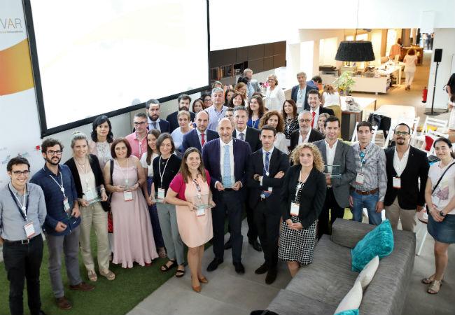 Foto de familia de los ganadores del premio Innovar de Novartis