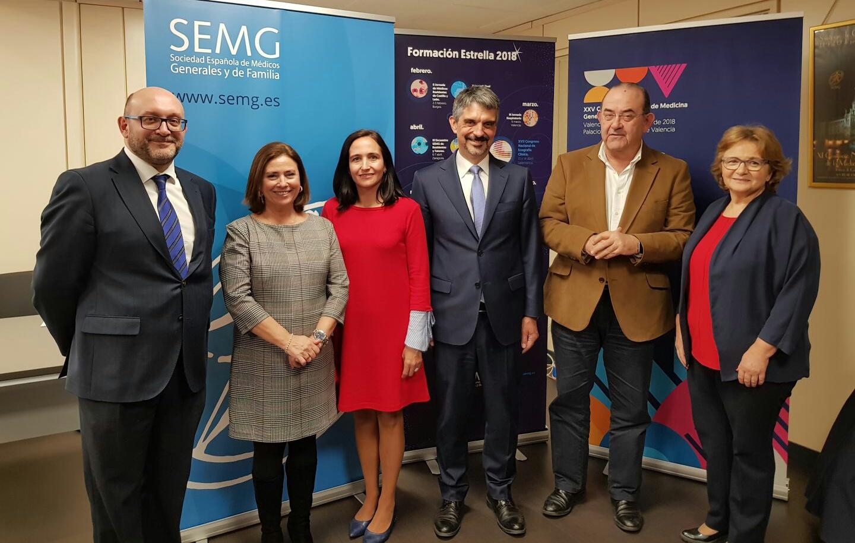 Francisco José Sáez, Carmen Isbert, Raquel Solís, Jaume Pey, Antonio Fernández-Pro y Mercedes Otero