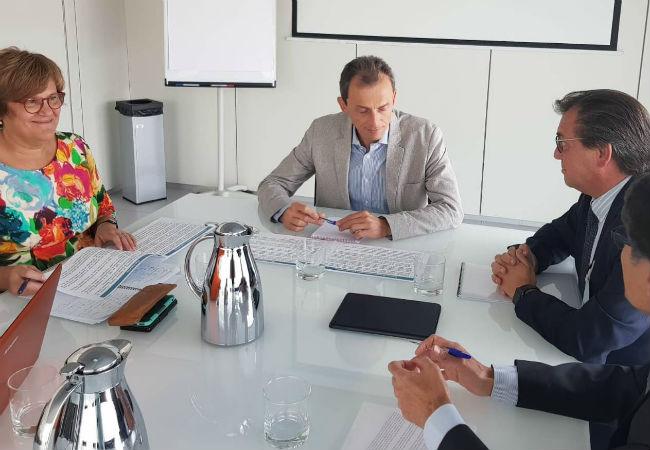 Ángeles Heras, Pedro Duque, Jesús Acebillo y Humberto Arnés, en el Ministerio de Ciencia, Innovación y Universidades