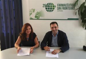 José Luis Nájera García, y la secretaria general de FSFE, Ana Calderón Reñón.