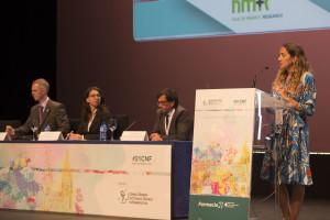 Un momento de la ponencia sobre Europa y sus modelos farmacéuticos
