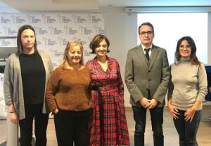 Belén González-Villamil, Manuela Suárez, Almudena Cueto, Juan Roces y Purificación Rodríguez