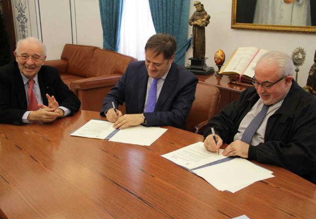 El convenio, rubricado por José Luis Mendoza Pérez, presidente de la UCAM, y Roberto Martínez Moeckel, director general de la empresa Martínez Nieto