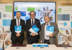 AESEG firma sendos acuerdos de colaboración con FEP y con AGP