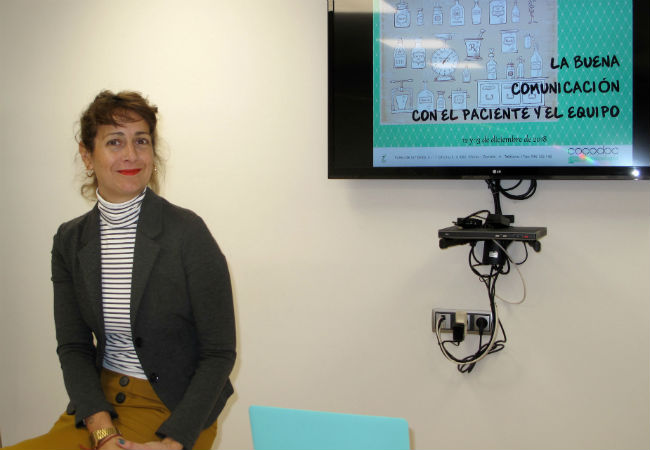 Elena García Ozores, momentos antes de dar comienzo el curso