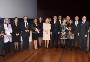 Autoridades y premiados en los Premios PAM 2018