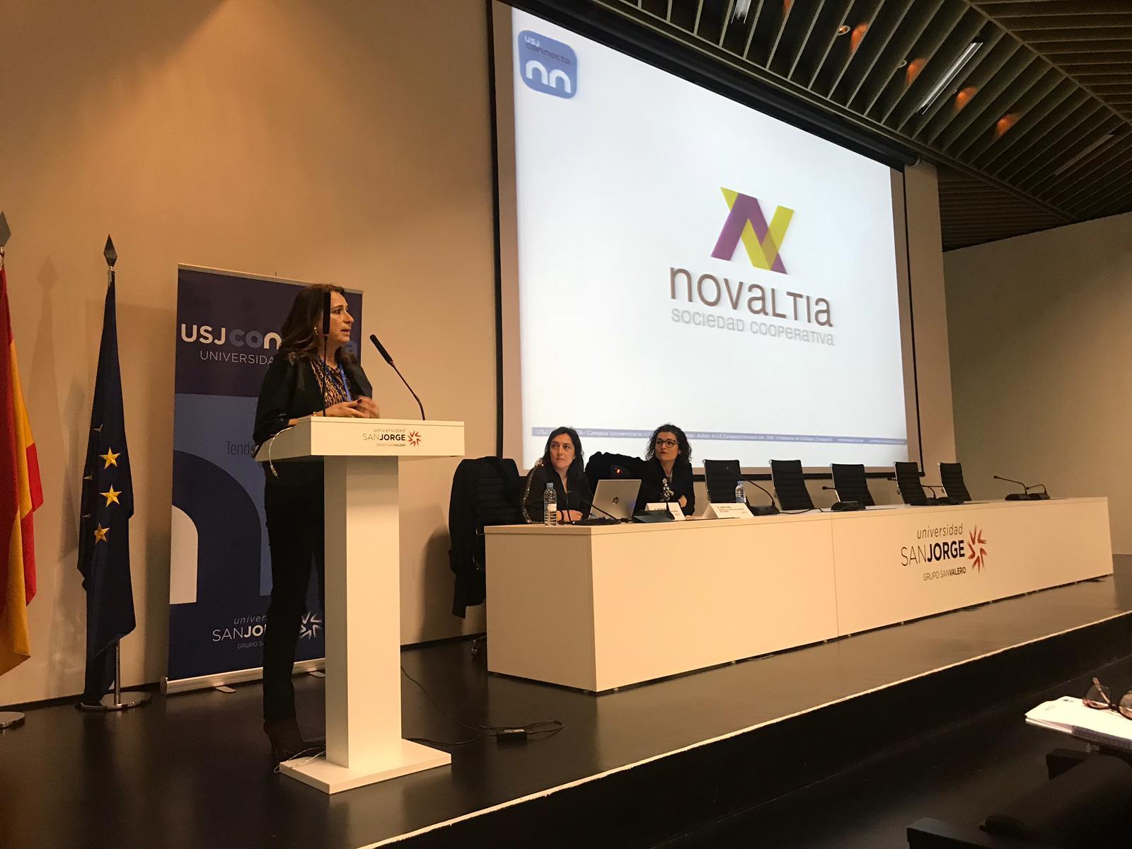Elena Egido, durante su intervención