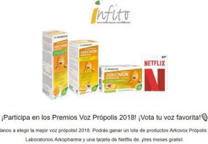 INFITO lanza un concurso para elegir a los Premios Voz Própolis 2018