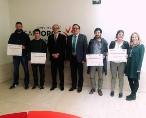 Entrega de las Becas Novaltia a alumnos de la Universidad de San Jorge