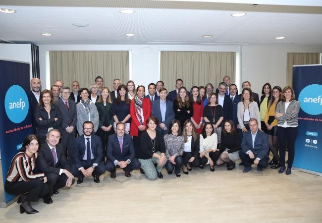 Foto de familia del nuevo Consejo Directivo de anefp