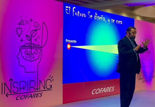 Ignacio Villoch en un momento de su ponencia en Inspiring Cofares