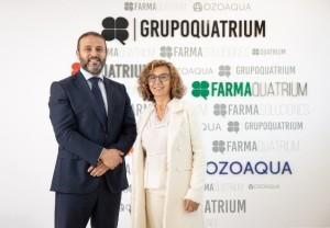 María José García, presidenta de FEFGA, y Roger Antelo, Responsable Zona Norte de FarmaQuatrium