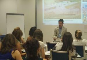Jaime Acosta, durante la conferencia