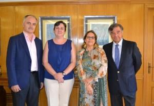 De izd. a dcha., Pedro Villalta, Aurora Araujo, Marisol Ucha y Luis González