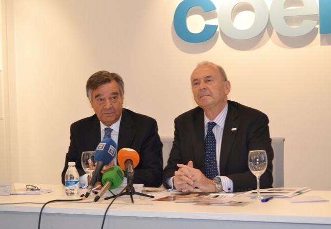 Luis González Díez y Francisco Rodríguez Lozano, durante la conferencia de prensa