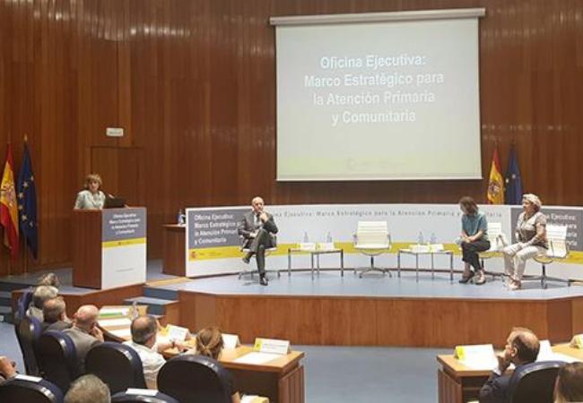 Carcedo ha presidido el acto de presentación de la Oficina Ejecutiva del Marco Estratégico para la Atención Primaria y Comunitaria.