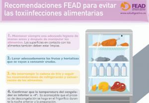 FEAD: medidas básicas para evitar las toxiinfecciones alimentarias