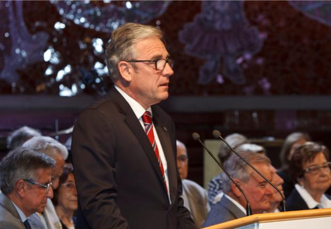 El presidente del COFB, Jordi de Dalmases, durante su discurso.
