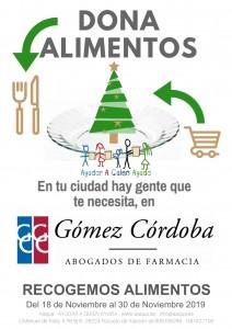 Gómez Córdoba colabora con Aaqua en la campaña solidaria 'Ayudar a quien ayuda'