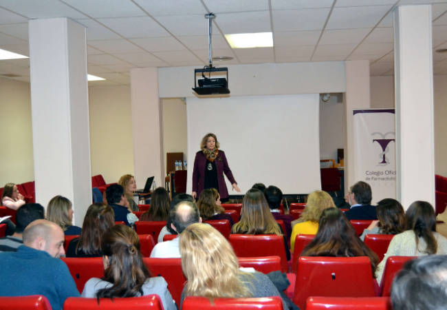 María José Martínez Zorrilla, durante la charla