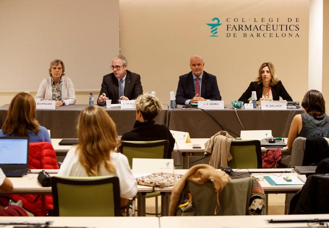De izquierda a derecha: Cristina Rodríguez, Jordi De Dalmases, Joan Carles Serra y Mònica Gallach durante la inauguración de la XV edición del MGOF