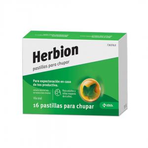 Herbion pastillas para chupar en caso de tos productiva