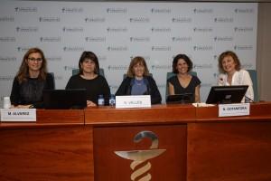 De izquierda a derecha: Esther Rives, Marlene Álvarez, Roser Vallès, Núria Gotanegra y Anna Font