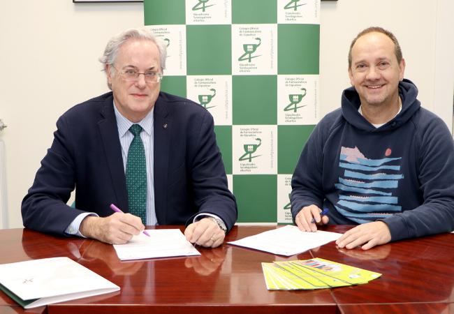 Miguel Ángel Gastelurrutia, presidente del COFG; y Beningno Balín, presidente de Aspargi a la derecha