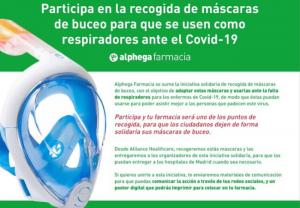 Alliance Healthcare participa en la recogida de máscaras de buceo en las farmacias para que se usen como respiradores ante el Covid-19
