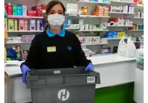 Hefame se une al programa solidario de recogida de mascarillas en Madrid, a través del servicio de almacén y reparto