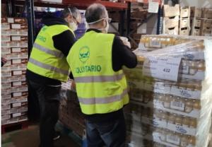 Los empleados de Normon donan más de 13.500 kg. de comida al Banco de Alimentos