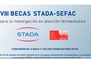 128 farmacéuticos de 12 CCAA optan con 20 proyectos a las VIII Becas STADA-SEFAC para la investigación en AF