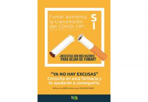 Bidafarma facilita a sus farmacias una campaña sobre cesación tabáquica