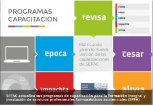 SEFAC actualiza sus programas de capacitación para la formación integral y prestación de servicios profesionales farmacéuticos asistenciales (SPFA)