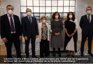 Carmen Cociña y Neus Caelles, galardonadas por SEFAC por su trayectoria en favor del desarrollo profesional de la farmacia comunitaria