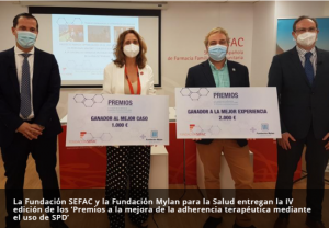 Fundación Sefac y Fundación Mylan entregan la IV edición de los 'Premios a la mejora de la adherencia terapéutica mediante el uso de SPD'