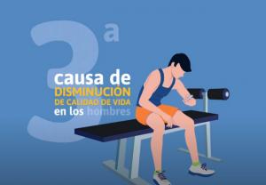 La incontinencia urinaria es la tercera causa de disminución de calidad de vida en los hombres en España