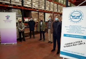 Los farmacéuticos de La Rioja donan 8.500 euros al Banco de Alimentos de La Rioja