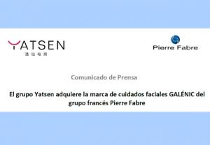 El grupo Yatsen adquiere la marca de cuidados faciales GALÉNIC del grupo francés Pierre Fabre