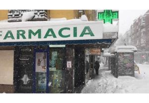 La red madrileña de farmacias se mantuvo abierta pese al temporal de nieve