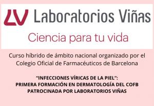 """""""Infecciones víricas de la piel"""":  primera formación en dermatología del COFB patrocinada por Laboratorios Viñas"""