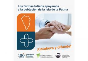 Los farmacéuticos apoyan a los damnificados por el volcán de La Palma