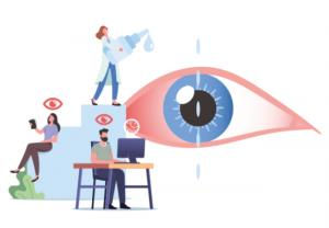 Los farmacéuticos alertan del peligro para los ojos del exceso de exposición a dispositivos móviles